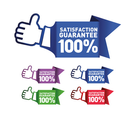 guarantee: Satisfaction guarantee label