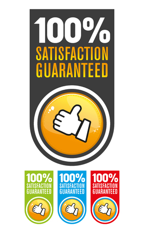 guarantee seal: Satisfaction guarantee label