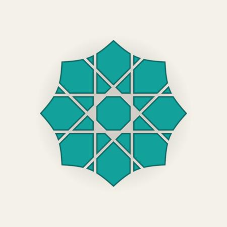 Seljuk pattern in blue