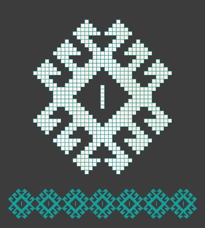 Seljuk pattern vector illustration. Çizim