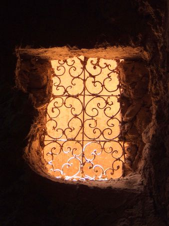 marrakesh: moroccan window Stock Photo