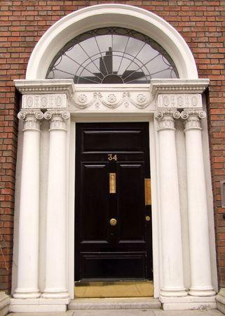 Georgian door, Dublin, Ireland photo