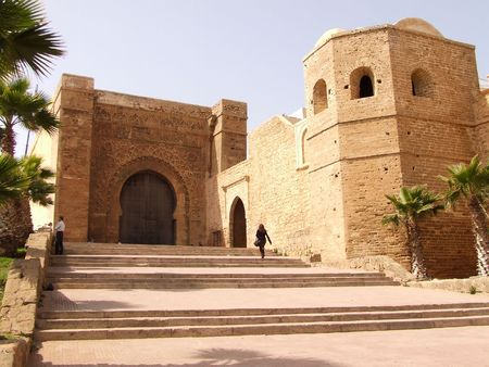 medina: View on the gate of the Kasba des Ouida in Rabat, Morocco Stock Photo
