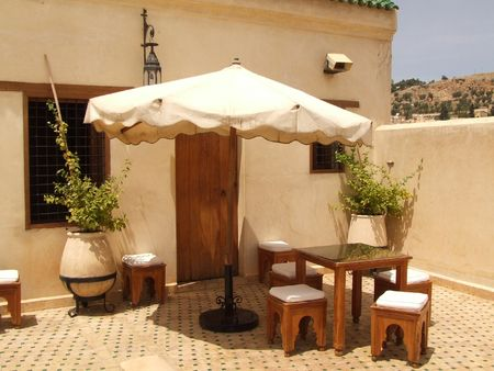 Morrocan roof terrace