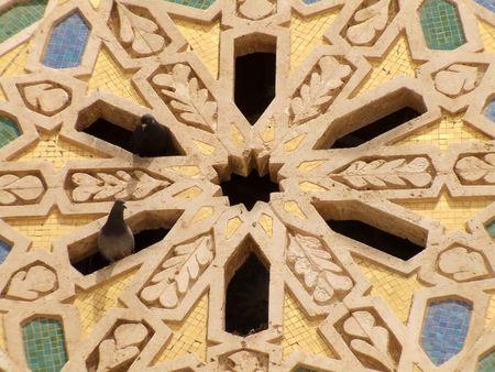 marrakesh: Particolare della Moschea Hassan II, Casablanca, Marocco