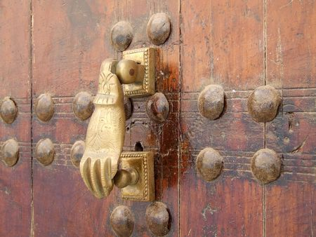 Doorknocker, Rabat, Morocco photo