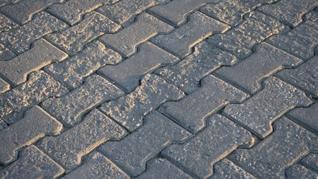cobbles: Road desined with cobbles stones Stock Photo