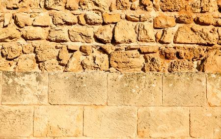 kibris: Structured vs unstructured bricks Stock Photo