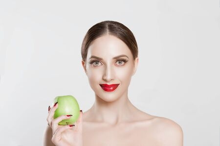 One apple a day keeps doctor away Banque d'images
