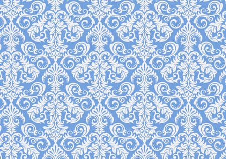 Damask seamless pattern background. Classical luxury old fashioned damascus ornament, royal victorian texture for wallpapers, textile, wrapping. Exquisite floral baroque template design.