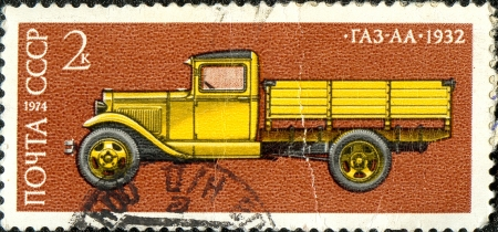 stamp with the truck image