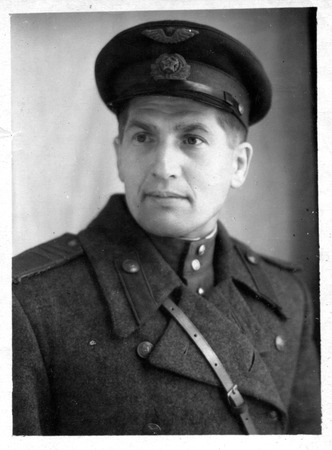 sergeant: Rostov-on-Don, the USSR - CIRCA 1940s: the photo made in the USSR, represents the young man in the form of the sergeant of the Soviet Army, circa 1940s.