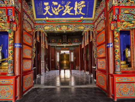 relic: China the Inner Mongolia Autonomous Region, Hohhot City, Dazhao temple, religious architecture art