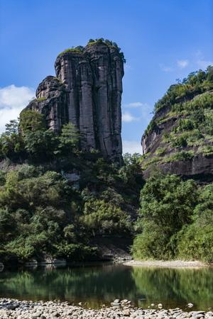 中国の福建省南平市武夷山市の武夷山の風光明媚なエリア