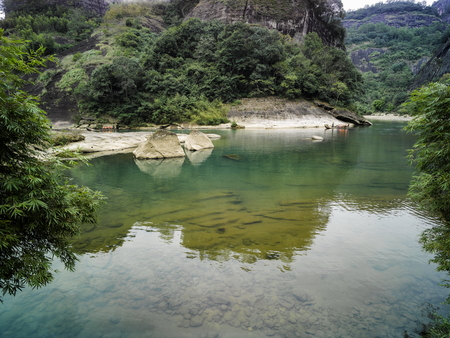 Wuyishan scenic area in Chinas Fujian Province, Nanping City, Wuyishan City 版權商用圖片