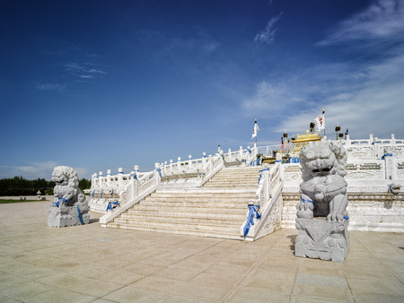 China, the Inner Mongolia Autonomous Region, Ordos, Mausoleum of Genghis Khan, the altar