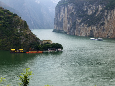 China Yangtze Gorges Qutang gorge scenery Stock fotó - 80245751