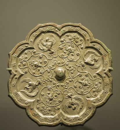 Beijing City, China Capital Museum, the Tang Dynasty bronze mirror Reklamní fotografie