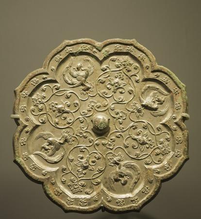 Città di Pechino, China Capital Museum, lo specchio di bronzo della dinastia Tang Archivio Fotografico - 80081786