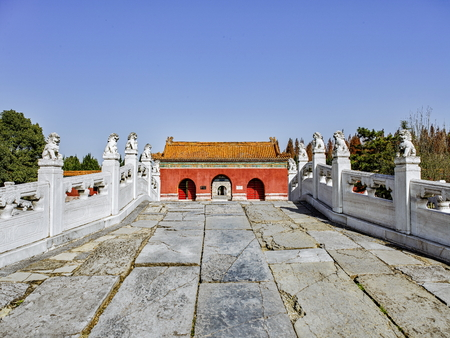 Chinas Hubei Province, Jingmen City, Zhongxiang City, the world cultural heritage obviously Mausoleum
