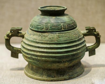 Hubei Province, Wuhan City, Hubei Province, China, museum, Jujube Guo Jia Miao Zeng Guo tomb unearthed cultural relics, bronze