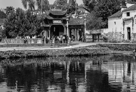 Chinas Zhejiang Province, Lanxi City, Zhuge Bagua village, the ancient village view