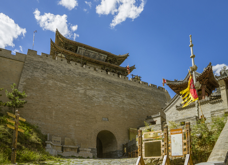 shanxi province at xinzhou city, the world cultural heritage yanmen pass 版權商用圖片