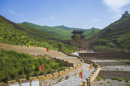 Chinese Shanxi, Xinzhou City, on behalf of the county, the world cultural heritage Yanmen Pass 新聞圖片