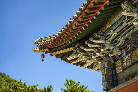 counties: Bishan Temple at Mount Wutai in Shanxi Province, China.