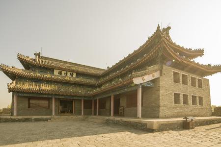 ancient pass: Chinas Hebei Province, Qinhuangdao, Shanhaiguan, Jingbian building Editorial