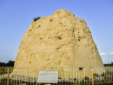 relic: Chinese Ningxia, Yinchuan City, the Western Xia imperial tombs