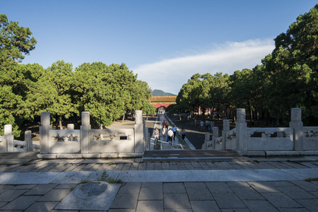 ming: Ming Dynasty Ming Dynasty Tombs, beijing, china Editorial