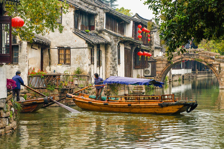 Zhouzhuang Ancient Town 版權商用圖片 - 80970290