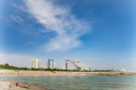 Rizhao City seaside scenery Chinas Shandong Province Stock Photo