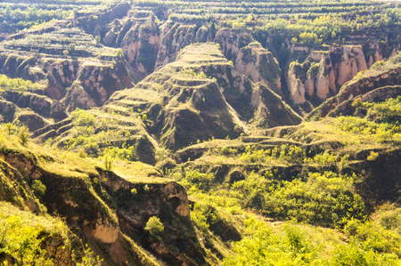 Luochuan loess National Geopark, Shaanxi, China