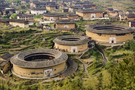 Yong Ding Tulou in China Editorial