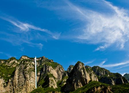 Chinas Henan Province, Jiyuan City,Wulongkou natural scenery 版權商用圖片