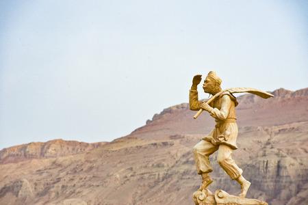 불타는 산, 투르판, 신강, 중국 스톡 콘텐츠