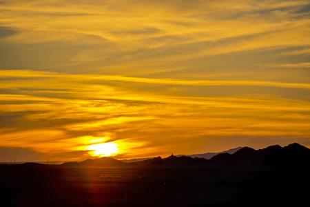 Sunset glow, Gansu, Jiuquan, China