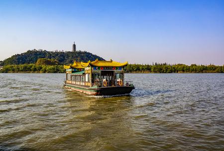 China Jiangsu, Zhenjiang City, Jiaoshan scenery Editorial