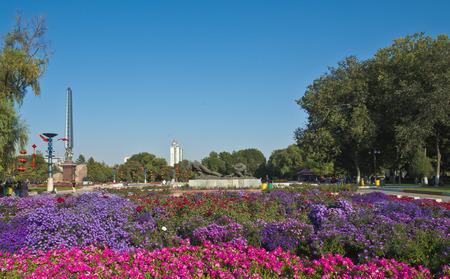 Vista del paesaggio del parco di ricreazione di Shihezi Archivio Fotografico - 81704948