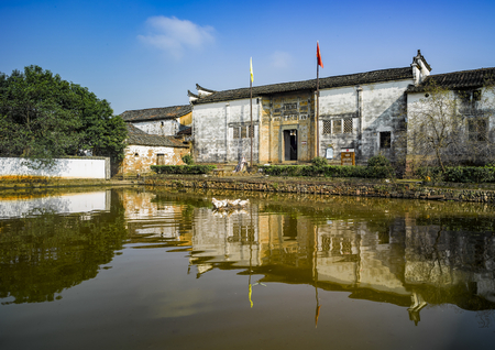 Chinas Zhejiang Province, Jinhua City, Chinese history and culture famous village Temple Ping ancient village