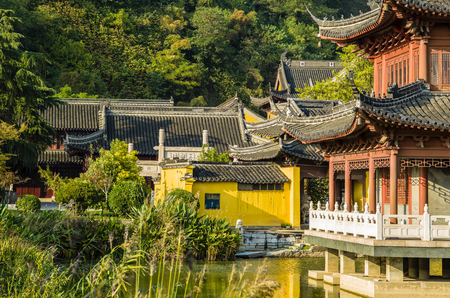 cloister: Chinese Jiangsu Zhenjiang, MTE Dinghui temple, religious architecture