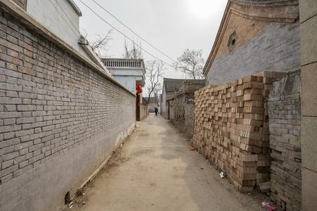 Chinas Henan Province, Huaxian, Zhao Zhuang village. 版權商用圖片