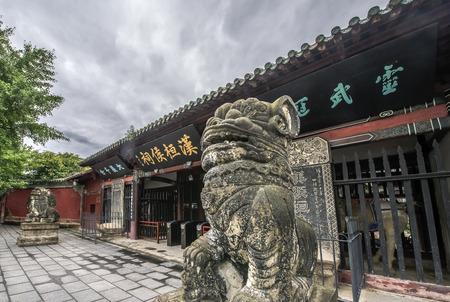Zhang Fei temple at China Sichuan Nanchong City. 新聞圖片
