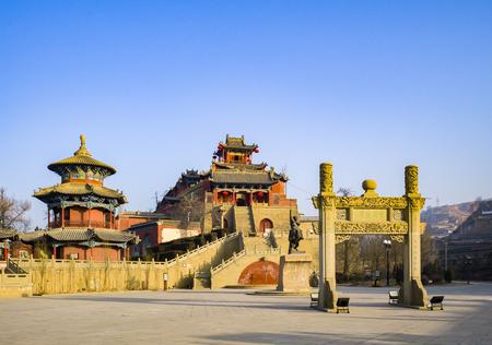 Li Zicheng Palace in Yulin City Editorial