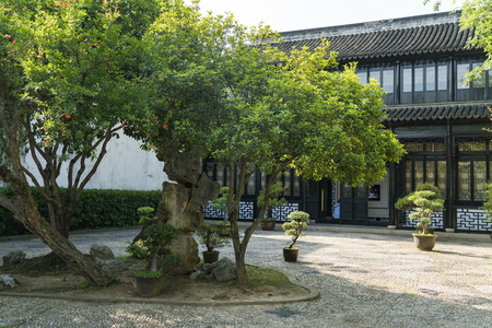 Exterior garden view of the former residence of Feng Guifen in Suzhou, China Sajtókép