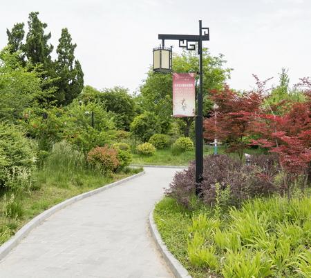 Landscape view of a garden 版權商用圖片 - 83643313