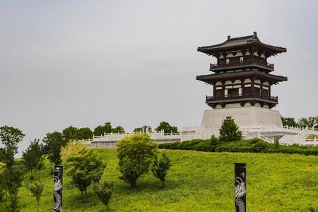 Chung Kui Cultural Park at China's Anhui Province. 版權商用圖片 - 84260430