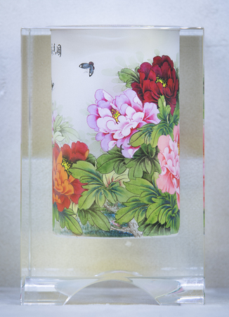 snuff: Interior painted snuff bottle at painting art museum Editorial